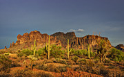 The Superstitions Prints - The Desert Aglow Print by Saija  Lehtonen