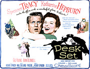 1957 Movies Framed Prints - The Desk Set, Spencer Tracy, Katharine Framed Print by Everett