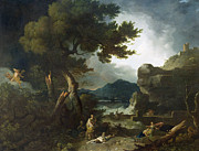 Lightning Painting Prints - The Destruction of Niobes Children Print by Richard Wilson