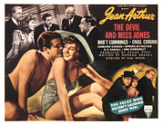 Robert Wood Framed Prints - The Devil And Miss Jones, Robert Framed Print by Everett