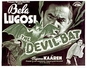 Lobbycard Framed Prints - The Devil Bat, Bela Lugosi, Suzanne Framed Print by Everett