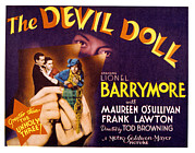 Lobbycard Art - The Devil Doll, Frank Lawton, Maureen by Everett