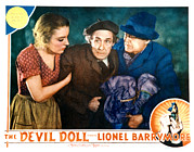 Lobbycard Framed Prints - The Devil Doll, Grace Ford, Henry B Framed Print by Everett