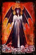 Divine Feminine Framed Prints - The Devil Framed Print by Tammy Wetzel