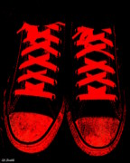 Tennis Digital Art Metal Prints - The Devil Wears Converse Metal Print by Ed Smith