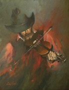 Violins Paintings - The Devil Went Down to Georgia by Mia DeLode