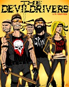 Group Digital Art Originals - The Devildrivers Gang by Luke Kegley