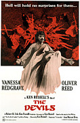 1970s Poster Art Framed Prints - The Devils, Oliver Reed Back, Vanessa Framed Print by Everett