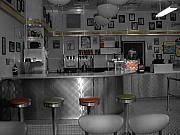 Cafe Digital Art - The Diner by Audrey Venute