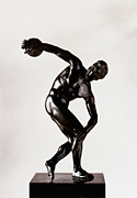 Roman Statue Prints - The Discobolus Print by Granger