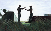 Rural Scenes Pastels - The Discussion by Christian Vandehaar