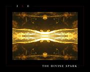 Rain Digital Art Originals - The Divine Spark by Jonathan Ellis Keys