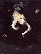 Skeleton Painting Prints - The Diving Dog Print by Ethan Harris