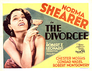 Champagne Glasses Posters - The Divorcee, Norma Shearer, 1930 Poster by Everett