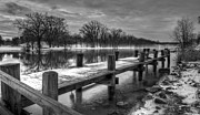 White River Photos - The Dock by Everet Regal