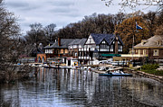 Boathouse Row Prints - The Docks at Boathouse Row - Philadelphia Print by Bill Cannon