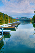 Autumn Prints Prints - The Docks At Morgantown Print by Steven Ainsworth