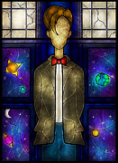 Tardis Digital Art Prints - The Doctor Print by Mandie Manzano