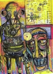 Neo-expressionism Mixed Media - The Doctor by Robert Wolverton Jr