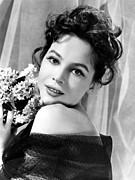 Bare Shoulder Metal Prints - The Doctors Dilemma, Leslie Caron, 1958 Metal Print by Everett