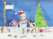 Christmas Dogs Prints - The Dog Groomer Print by Suzy Pal Powell