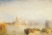 Della Framed Prints - The Dogana and Santa Maria della Salute Venice Framed Print by Joseph Mallord William Turner