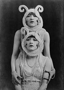 Headdresses Art - The Dolly Sisters, A Tandem Dance Team by Everett