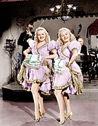 Gold Trim Framed Prints - The Dolly Sisters, From Left Betty Framed Print by Everett