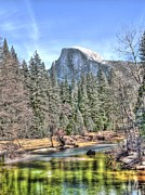 Merced River Prints - The Dome Print by Bill Gallagher