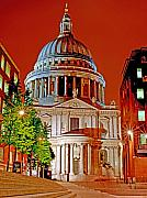 Rights Managed Framed Prints - The Dome of St Pauls Framed Print by Chris Smith
