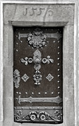Ornaments Prints - THE DOOR - Ceske Budejovice Print by Christine Till