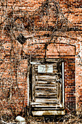 Abandoned Buildings Framed Prints - The Door Framed Print by Emily Stauring