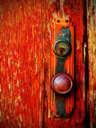 Red Door Prints - The Door Handle  Print by Tara Turner