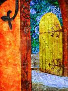 Entrance Door Prints - The Door is Always Open Print by Tara Turner