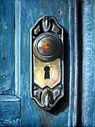 Doors Drawings Prints - The door knob Print by Leyla Munteanu