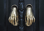 Seville Posters - The Door Knockers of Seville Poster by Mary Machare