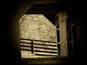 Barn Door Framed Prints - The Door Framed Print by Michael L Kimble