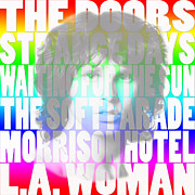 Jim Morrison Prints - The Doors 2 Print by Andrew Fare