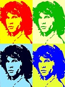 Jim Morrison Framed Prints Digital Art - The Doors And Jimmy by Robert Margetts