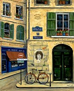 French Shops Paintings - The Doors by Marilyn Dunlap