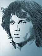 Jim Morrison Drawings Prints - The Doors of Perception Print by Robbi  Musser