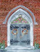 Wreaths Paintings - The Doors of St. Marys by Sandie Keyser