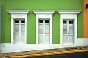 Old San Juan Photo Prints - The Doors Print by Timothy Johnson