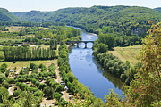 Aquitaine Framed Prints - The Dordogne Valley, Chateau Castelnaud On The Right, Dordgogne River, Dordogne, Aquitaine, France Framed Print by Fraser Hall