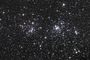 Double Image Posters - The Double Cluster, Ngc 884 And Ngc 869 Poster by Robert Gendler