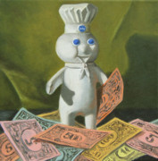 Humor Painting Prints - The Dough Boy Print by Judy Sherman