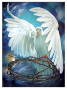 Religious Artist Painting Posters - The Dove Poster by Larry Cole