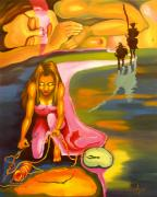 Don Quijote Paintings - The D.Q. within Bella by Milagros Palmieri