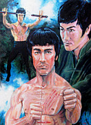 Bruce Lee Paintings - The Dragon by Mark Dallmeier