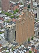 Aerial Photos Prints - The Drake Apartments Philadelphia Print by Duncan Pearson